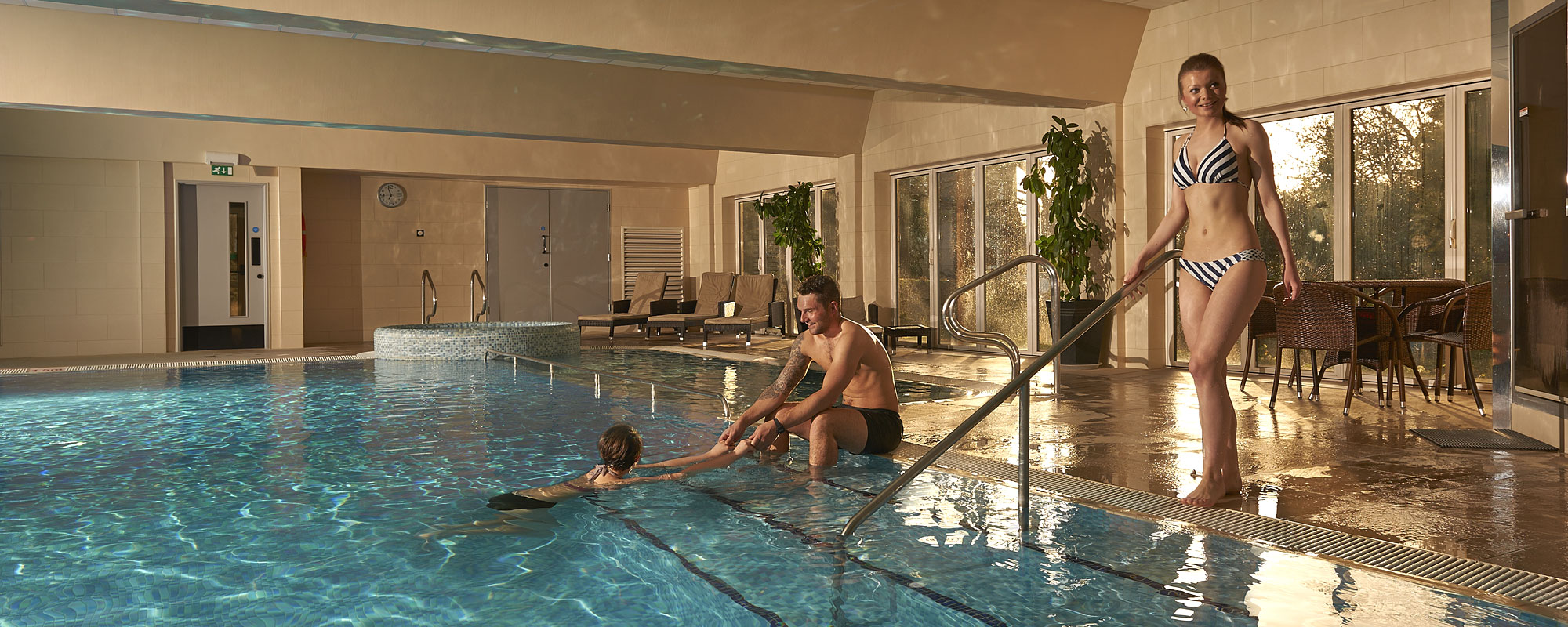 Hotel health suite - pool, steam room, sauna and gym.